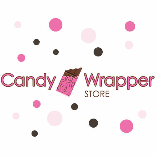Greenery and Glitter Gold Wedding Candy Bar Wrapper