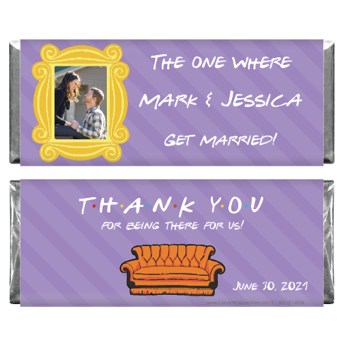 The One Where They Get Married Friends Theme Photo Wedding Candy Bar Wrapper WA435photo