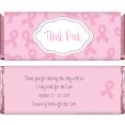 Think Pink Breast Cancer Awareness Candy Wrapper BCA202