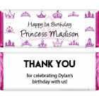 Princess Crowns Birthday Candy Bar Wrappers BD249