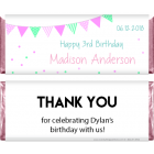 Cute Dots and Stripes Bunting Birthday Candy Wrapper BD280