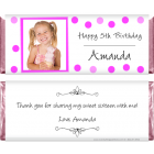 Photo Birthday Dots Candy Wrapper BD286photo