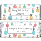 Summer Pineapples Birthday Candy Bar Wrapper BD437