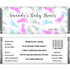 Baby Shower Baby Feet Candy Wrapper BS211A