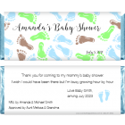 Baby Shower Baby Feet Candy Wrapper BS211B