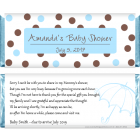 Baby Shower Blue and Brown Dots Candy Bar Wrapper BS229b
