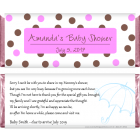 Baby Shower Pink and Brown Dots Candy Bar Wrapper BS229p