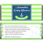 Nautical Theme Baby Shower Candy Bar Wrapper BS234b