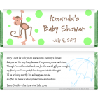 Monkey Baby Shower Candy Wrapper BS249