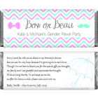 Bow or Beau Chevron Gender Reveal Candy Bar Wrapper BS266