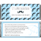 Mustache Bash Baby Shower Candy Bar Wrappers BS357