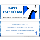 Fathers Day Leaning Cross Candy Wrapper FD215
