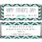 Fathers Day Chevron Mustache Candy Wrapper FD216