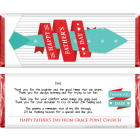 Fathers Day Tie Candy Bar Wrapper FD219