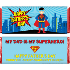 Superhero Fathers Day Candy Bar Wrapper FD220