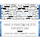 Mustache Fathers Day Candy Bar Wrapper FD221