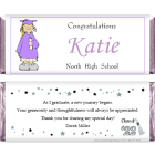 Girl Graduation Candy Bar Wrappers GRAD202