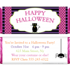 Black Cat Halloween Candy Wrapper HAL214