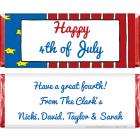 4th of July Flag Candy Bar Wrapper IND202
