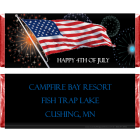 4th of July Fireworks and Flag Candy Wrapper IND205