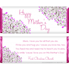 Mother's Day Scroll Floral Candy Wrappers MD200