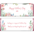 Mother's Day Watercolor Spring Floral Candy Wrappers MD3