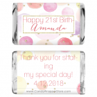 Miniature Watercolor Dots and Glitter Birthday Candy Bar Wrappers MINIBD391