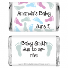 Miniature Baby Shower Baby Feet Candy Wrapper MINIBS211A