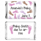 Miniature Baby Shower Baby Feet Candy Wrapper MINIBS211G