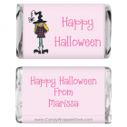 Miniature Witch Halloween Candy Bar Wrappers MINIHAL100a