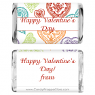 Miniature Valentines Day Sketched Hearts Candy Wrapper MINIVAL211