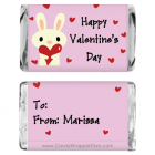 Miniature Valentines Day Bunny Candy Wrapper MINIVAL213