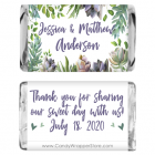 Miniature Styled Succulents Watercolor Wedding Candy Bar Wrapper MINIWA373