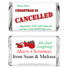 Christmas is Cancelled Candy Wrappers MINIXMAS214