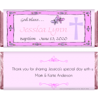 Pink Border with Cross Religious Candy Wrapper REL205