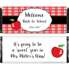 Plaid and Apple Back to School Candy Bar Wrapper SCHOOL206