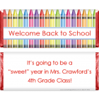 Color Crayons Back to School Candy Bar Wrapper SCHOOL207