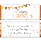 Thanksgiving Bunting and Dots Candy Wrappers THANKS200