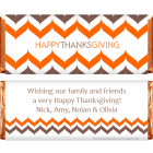 Thanksgiving Modern Chevron Candy Wrappers THANKS203