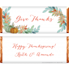Watercolor Pumpkins Thanksgiving Candy Wrappers THANKS211