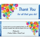 Balloons Thank You Candy Bar Wrapper TY206