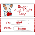 Valentines Day Dog Heart Candy Wrapper VAL209