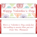 Valentines Day Sketched Hearts Candy Wrapper VAL211