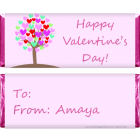 Valentines Day Heart Tree Candy Wrapper VAL214
