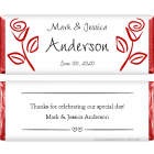Wedding Red Roses Candy Bar Wrappers