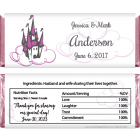 Wedding Castle and Clouds Candy Bar Wrappers