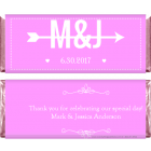 Arrow and Initials Wedding Candy Wrapper WA3