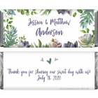 Styled Succulents Watercolor Wedding Candy Bar Wrapper WA373