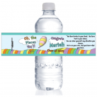 Oh the Places Youll Go Graduation Water Bottle Label WBGRAD233