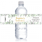 Wild Greenery Bridal Shower Water Bottle Labels WBWS390